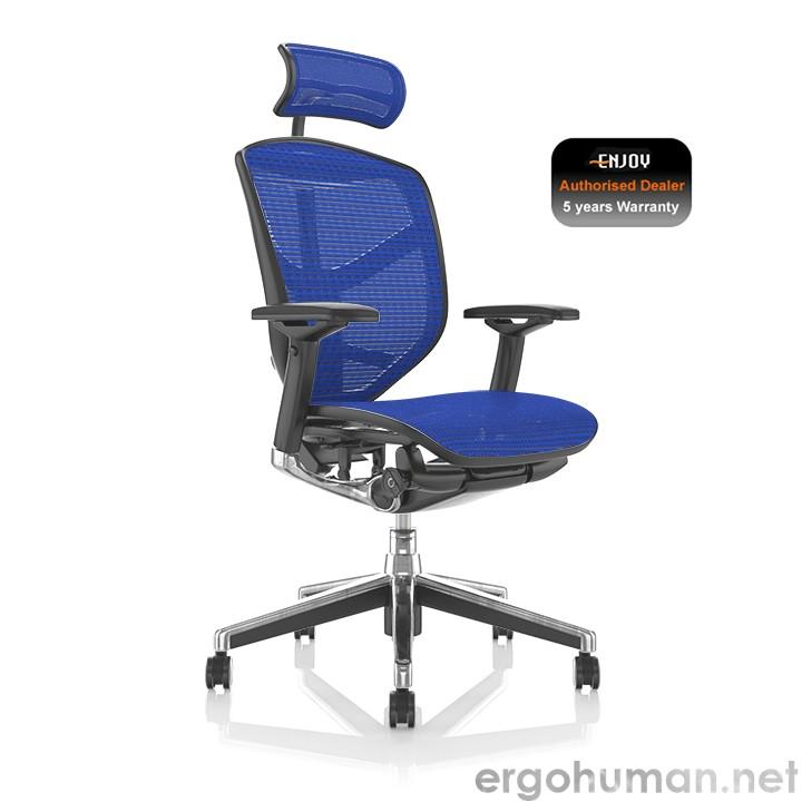 Enjoy Elite Blue Mesh Office Chair with Head Rest